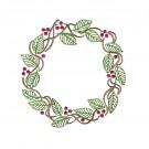 Wreath Autumn Whimsicality Embroidery Design