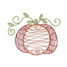 Fat Pumpkin Autumn Whimsicality Embroidery Design