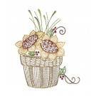 Basket of Flowers Autumn Whimsicality Embroidery Design