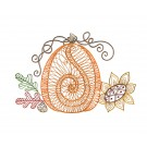 Pumpkin Bunch Autumn Whimsicality Embroidery Design