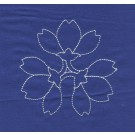 Flowers Savvy Sashiko Embroidery Design