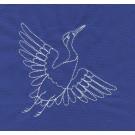 Crane Savvy Sashiko Embroidery Design