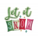 Let it Snow Snowfolk Embroidery Design