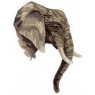 Elephant Head Serengeti Pride Embroidery Design