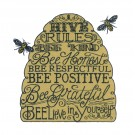 Bee Attitudes Happy Embroidery Design