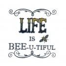 Bee-U-Tiful Bee Happy Embroidery Design