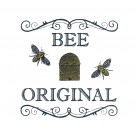 Bee Original Bee Happy Embroidery Design