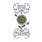 Bee Caring Bee Happy Embroidery Design