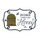 Where Honey Is Bee Happy Embroidery Design