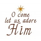 Adore Him The Nativity Story Embroidery Design
