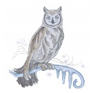 Owl Winter Radiance Embroidery Design