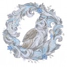 Owl Wreath Winter Radiance Embroidery Design