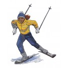 Skier 4 Winter Sports Embroidery Design