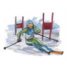 Skier 10 Winter Sports Embroidery Design