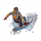 Snowboarder 2 Winter Sports Embroidery Design