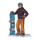 Snowboarder 3 Winter Sports Embroidery Design