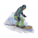 Snowboarder 4 Winter Sports Embroidery Design