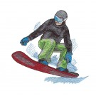 Snowboarder 8 Winter Sports Embroidery Design