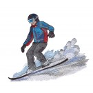 Snowboarder 9 Winter Sports Embroidery Design