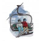 Ski Lift Winter Sports Embroidery Design