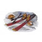 Ski Equipment Winter Sports Embroidery Design