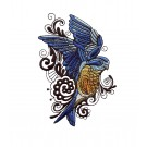 Bluebird Birds and Blooms Doodles Embroidery Design