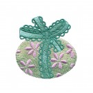 Egg and Bow Easter Flourishes Embroidery Design