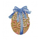 Egg with Bow Easter Flourishes Embroidery Design