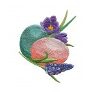 Eggs Easter Flourishes Embroidery Design