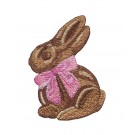 Chocolate Bunny Easter Flourishes Embroidery Design