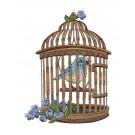 Bird in Cage Vintage Elegance Embroidery Design
