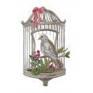 Bird Cage Vintage Elegance Embroidery Design