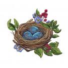 Eggs in Nest Vintage Elegance Embroidery Design