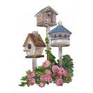 Bird Houses Vintage Elegance Embroidery Design