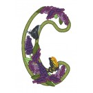C Blooming Applique Alphabet Embroidery Design
