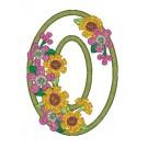 O Blooming Applique Alphabet Embroidery Design