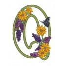 Q Blooming Applique Alphabet Embroidery Design
