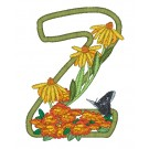 Z Blooming Applique Alphabet Embroidery Design