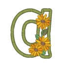 a Blooming Applique Alphabet Embroidery Design