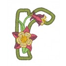 r Blooming Applique Alphabet Embroidery Design