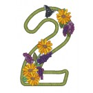2 Blooming Applique Alphabet Embroidery Design