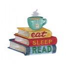 Eat Sleep Read Kitten Tales Embroidery Design