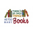 Too Many Books Kitten Tales Embroidery Design