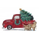 Christmas Truck Rustic Farm Embroidery Design