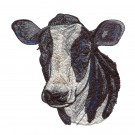 Cow Head Rustic Farm Embroidery Design