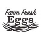 Farm Fresh Eggs Rustic Farm Embroidery Design