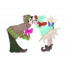 KISSING ELVES PREMIUM SINGLE DESIGN