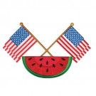 Watermelon And Flags