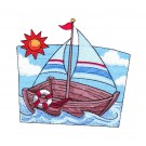 Sail Boat Free Embroidery Design