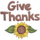 Give Thanks Sunflower